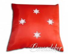 Dekorativní povlak na polštářek-vánoční červený