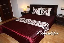 Luxusní přehoz na postel 21B-rozměry š.170cmx d.210cm(včetně 2ks povlaků na polštář 50x60cm)