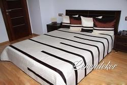 Luxusní přehoz na postel 24A-rozměry š.170cmx d.210cm(včetně 2ks povlaků na polštář 50x60cm)