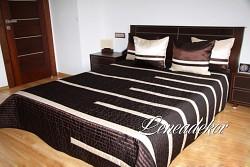Luxusní přehoz na postel hnědý 24D