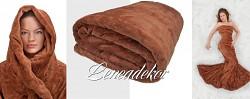 Luxusní deka z mikrovlákna karamelová 160x210cm vzor 6 (4)