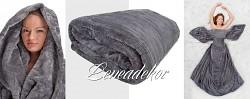 Luxusní deka z mikrovlákna-160x210cm-vzor 33 (9)-šedá