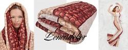 Luxusní deka z mikrovlákna-160x210cm-vzor 86 (13)-hadí kůže