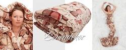 Luxusní deka z mikrovlákna-160x210cm-vzor 67 (16)-kameny béžové