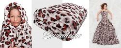 Luxusní deka z mikrovlákna-160x210cm-vzor 207 (36)-panterka světlá