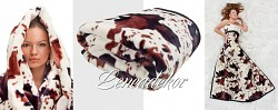 Luxusní deka z mikrovlákna kravička 160x210cm vzor 70 (45)
