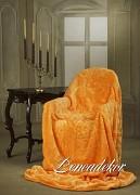Luxusní deka huňatá oranžová