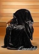 Luxusní deka akrylová černá -160x210cm-vzor 23 (30)