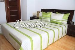 Přehoz na postel - 24k krémovo zelená