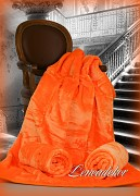 Přehoz na sedací soupravu-akrylový- vzor 4-oranžový