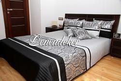 Přehoz na postel 29t šedá,černá,stříbrná 170x210cm-SKLADEM