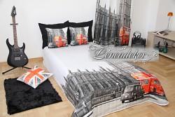 Přehoz na postel 3D Londýn