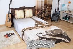 Přehoz na postel 3D- Paříž