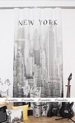 Moderní závěs 3D New York čb