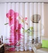 Moderní závěs 3D- Orchidej růžová -set 2ks