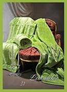 Přehoz na sedací soupravu-akrylový- vzor 31 zelený jarní