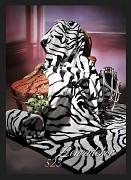 Přehoz na sedací soupravu-akrylový- vzor 523 -zebra