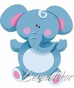 Samolepky Zvířátka- Slon
