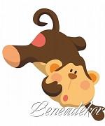 Samolepky Zvířátka- Opička