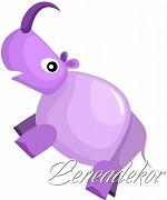 Samolepky Zvířátka- Nosorožec