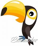 Samolepky Zvířátka- Tukan