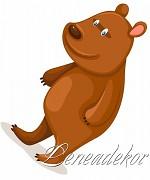 Samolepky Zvířátka- Medvěd