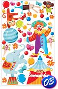 Samolepka XL+dárek nálepka pod vypínač- 3- Cirkus