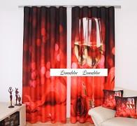 """Moderní závěs 3D červený s motivem vína- ZR19-set 2ks """"skladem"""""""