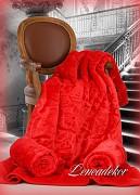 Deka španělská červená jasná vytlačený vzor 160x210cm