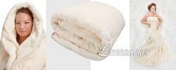 Luxusní deka 200x240cm-krémová-vytlačený vzor