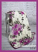 Deka španělská fialové květy 160x210cm vzor 855-4