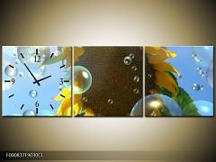 Obraz jako hodiny 90x30cm