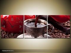 Obraz s hodinami OJh04609k 90x30cm