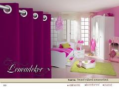 Závěs s dekoračními kruhy-20-tmavě růžový-amarant