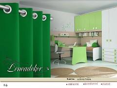 Závěs s dekoračními kruhy-24-zelený travní