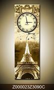 Obraz jako hodiny OJh0023Z 30x90cm