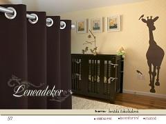 Závěs s dekoračními kruhy-57- hnědý čokoládový