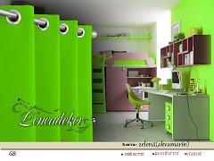 Závěs zelený-akvamarín