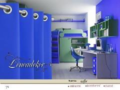 Závěs s dekoračními kruhy-71-modrý safírový