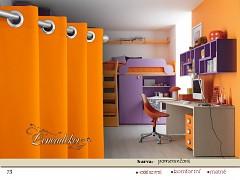 Závěs s dekoračními kruhy-73-pomerančový