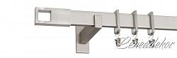 BRONX BELMONT - niklová hranatá garnýž jednořadá