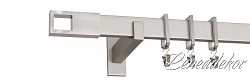niklová hranatá garnýž jednořadá (délka 160cm)