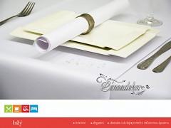 Běhoun na stůl s teflonovou úpravou BP01-bílý