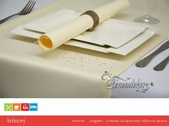 Běhoun na stůl- s teflonovou úpravou- BP02 krémový