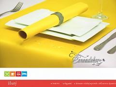 Běhoun na stůl s teflonovou úpravou BP05 žlutý