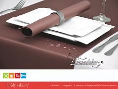 Běhoun na stůl- s teflonovou úpravou- BP39 hnědý kakaový