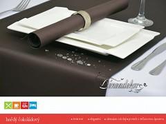 Běhoun na stůl s teflonovou úpravou BP29 hnědý čokoládový 40x110cm